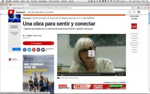 """Entrevista a Caroline Dream sobre su libro """"El payaso que hay en ti"""" en el diario Marca"""